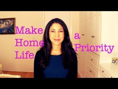▶ Make Home Life a Priority - YouTube video from the Daily Connoisseur Jennifer L Scott. #home #JenniferLScott #theDailyConnoisseur