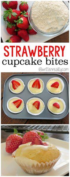 Strawberry Cupcake Bites recipe