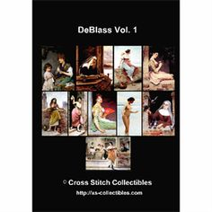 De Blass Cross Stitch Collection - 10 Cross Stitch Pattern by Cross Stitch Collectibles
