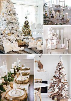 Déco de Noël : Ambiance chaleureuse avec du blanc Christmas Tree, Table Decorations, Holiday Decor, Furniture, Home Decor, Warm, White People, Christmas, Teal Christmas Tree