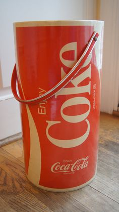 Large Vintage Round Coke, Coca Cola Cooler, by West bend, Coke Cooler, Thermo Serv Coca Cola
