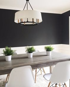 Design & Photo by Sherry Hart | Wrought Iron by Benjamin Moore Dining Room Paint Colors, Dining Room Walls, Dining Room Furniture, Paint Colours, Furniture Ideas, Benjamin Moore Wrought Iron, Wrought Iron Paint, Minimalist Dining Room, Modern Minimalist