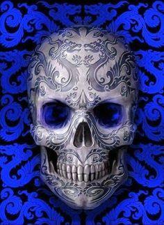 Feminine Sugar Skull Wallpaper Ios Is Best Wallpaper Sugar Skull Wallpaper, Sugar Skull Artwork, Skull Face, Skull Head, Crow Skull, Skull Motorcycle, Tattoo Caveira, Badass Skulls, Totenkopf Tattoos