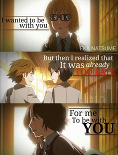 your lie in April Editor : Eka Natsume - i fear this will happen tbh ; w ;