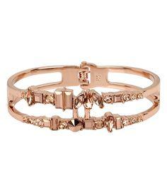 Kenneth Cole New York Stone Multi-Row Hinged Bangle Bracelet