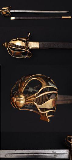 1798 Pattern Scottish Infantry Officer Broadsword Wellington Army.