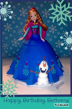 Anna doll cake from the movie Frozen.