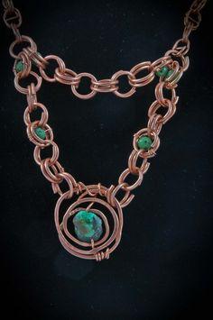 Copper, Dragon Blood necklace - Spirit Stone Design