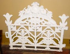 Antique cast iron garden gate--COLDEWEY--1894