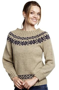 Norsk sweater - oppskrift på genser med rundfelling i Semilla.
