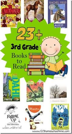 If you are wondering what your third grader should be reading try this FREE printable reading list for 3rd graders from 123 Ho:
