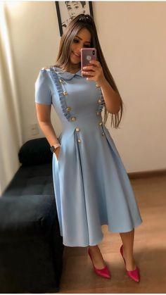 Abaya Style 685250899529463597 - Robe mi-longue Source by autourdelafrance Beautiful Casual Dresses, Classy Dress, Trendy Dresses, Modest Dresses, Cute Dresses, Vintage Dresses, Modest Fashion, Hijab Fashion, Fashion Dresses