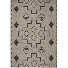 Mistana Mathes Gray/Black Indoor / Outdoor Area Rug Rug Size: Rectangle x Outdoor Living Areas, Indoor Outdoor Area Rugs, Living Spaces, Outdoor Spaces, Grey Rugs, Beige Area Rugs, Coastal Area Rugs, Throw Rugs, Aqua
