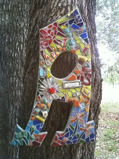 The Letter A.  Humpty Dumpty Mosaics  By Artist Jill Keesee  Great idea for group project, each class gets a letter. ART STUDIO, ART ROCKS,   or have student do first or last initial in name.