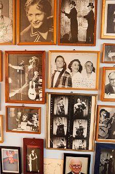 A wall of photos