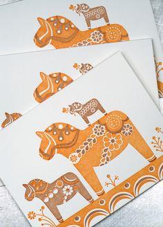 Cute Dala Horse Cards