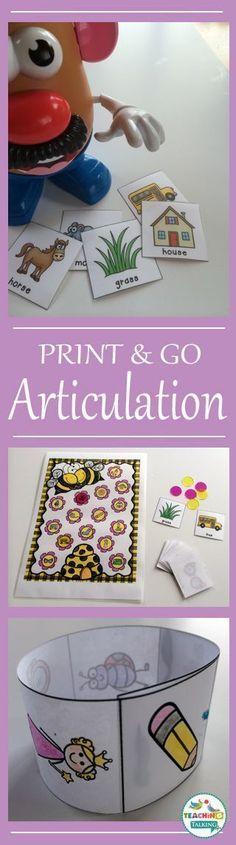 These print and go articulation activities are perfect for working in mixed groups. This set features worksheets & games to use all year round!