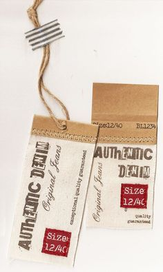 Some examples of Hangtags, labelling and branding.