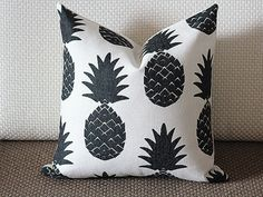 Pillow Covers, black pineapple pillow cover, Decorative throw pillows, Throw pillows, Outdoor pillows, Pillow cases, Couch pillow 259 by sweetystore on Etsy https://www.etsy.com/listing/236458186/pillow-covers-black-pineapple-pillow