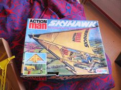 ACTION MAN SKYHAWK vintage flying wing toy SKY HAWK PALITOY