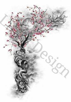 Tree Tattoo Foot, Blossom Tree Tattoo, Foot Tattoos, Tattoo Bird, Tattoo Wolf, Tree Branch Tattoo, Life Tree Tattoo, Dragonfly Tattoo, Raven Tattoo