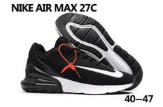 sale retailer 33f9d a96bb Nike Air Max 270 KPU Black White Men s Running Shoes Sneakers