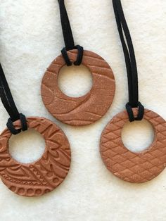 Jewelry OFF! Handmade Essential oils diffuser Terracotta Pendant various designs available large round ceramic Aromatherapy Essential Oil Terracotta Jewellery, Ceramic Jewelry, Polymer Clay Jewelry, Essential Oil Distiller, Essential Oil Diffuser, Essential Oils, Diffuser Jewelry, Diffuser Necklace, Jewelry Crafts