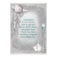 Beach Seashells Beach Wedding RSVP Custom Invitations