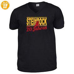 Hochwertiges T-Shirt mit V-Ausschnitt zum 20.Geburtstag : 20 Jahre / Steinbock Goodman Design® - V-Neck Shirt Gr: XXL Farbe: schwarz - Shirts zum geburtstag (*Partner-Link)