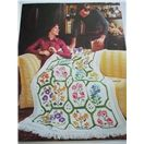 No 132 Bernat Afghans Contemporary Traditional Styles knit crochet patterns 1975
