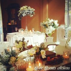 Christmas Winter Wedding in Athens, Greece #winterwedding #snowywedding #christmaswedding #comingsoon by #eliteeventsathens #flowers #centerpiece #sample #linens #fabrics #artdelatable #candles #decoration #love and it's gonna be an #amazing #extraordinary #christmas #winter #wedding for our #lovely ❤ #mrandmrs #soon #tobe ❤ #weddingplanning and #weloveourjob #greekwedding #athenswedding #weddingingreece http://www.eliteeventsathens.gr http://www.eliteeventssantorini.com