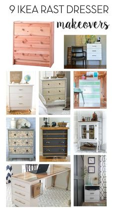 9 DIY IKEA Dresser Makeovers // Some of these are amazing!
