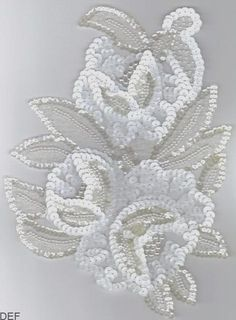 Crafts - Craft Supplie for Mask Decorations Zardozi Embroidery, Pearl Embroidery, Tambour Embroidery, Bead Embroidery Patterns, Couture Embroidery, Embroidery Fashion, Hand Embroidery Designs, Beaded Embroidery, Tambour Beading