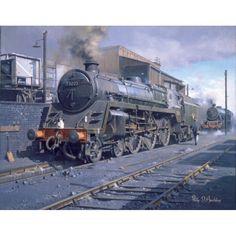 Shrewsbury StandardShrewsbury Standard - Shrewsbury StandardShrewsbury Standard - Shrewsbury Standard by Philip Hawkins Steam Trains Uk, Steam Tractor, Steam Railway, Train Art, Abandoned Cars, Train Tracks, Steam Engine, Steam Locomotive, British Rail