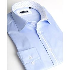 Dress shirt for men by Franck Michel | Riviera blue - URUNIQUE LLC