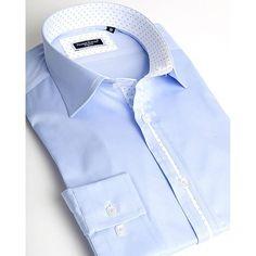 Dress shirt for men by Franck Michel | Riviera blue - URUNIQUE LLC