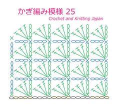 かぎ編み模様 25 長編み【かぎ針編み初心者さん】編み図・字幕解説 Double Crochet Pattern/Crochet and Knitting Japan https://youtu.be/btkCn6t858Q 長編み3目を1目の編み入れて、三角形の模様を作ります。 鎖編み、細編み、長編みで編みます。 ★編み図はこちらをご覧ください ★
