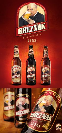 Packaging Design and Branding of Březňák by Fiala&Šebek Beer Brands, All Brands, Czech Beer, Beers Of The World, Wine And Spirits, Visual Communication, Root Beer, Packaging Design, Brewing