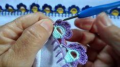 Crochet Tape Lace Tutorial 5 part 1 of 2 Crochet Motifs Crochet Edging Patterns, Crochet Borders, Crochet Squares, Crochet Motif, Crochet Flowers, Crochet Lace, Crochet Stitches, Saree Kuchu Designs, Rolled Paper Art