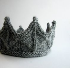 Gray Lace Knit Crown by laceandcable on Etsy, $24.00