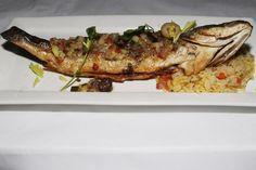 Le Paradis Bistro Brasserie Toronto - Bar Rôti - Whole Mediterranean Sea Bass (Branzino), olive tapenade, rice pilaf $27,00
