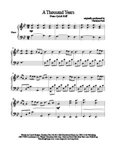 A Thousand Years - Christina Perri. Download tons of free sheet music at www.PianoBragSongs.com. #piano #sheetmusic #twilight