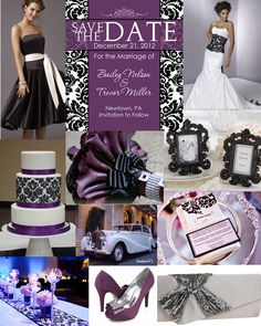 purple, bling, black and white damask :)  oooooh natalieeeeeeee ~~~ you kept mentioning black and white damask... :)