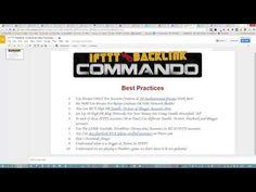 IFTTT Backlink Commando Best Practices - http://www.highpa20s.com/link-building/ifttt-backlink-commando-best-practices/