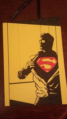 Man of steel. Man Of Steel, Batman, Superhero, Artwork, Fictional Characters, Art Work, Work Of Art, Auguste Rodin Artwork