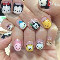 Not actual porn, just nails! 💅🏻💅🏼💅🏽💅🏾💅🏿None of these nails are mine unless stated. Disney Inspired Nails, Disney Nails, Nails For Kids, Girls Nails, Cute Acrylic Nails, Cute Nail Art, Korean Nails, Animal Nail Art, Super Nails