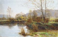 Une rivière sinueuse de Albert Gabriel Rigolot (1862-1932, France)