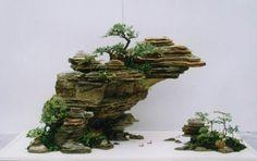 bonsai tree landscapes | Penzai, Chinese Bonsai, Potted Landscape