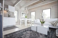 Cabin Homes, Log Homes, Cottage Design, House Design, Log Home Interiors, Log Home Designs, Swedish Decor, Modern Interior Design, Stylish Interior