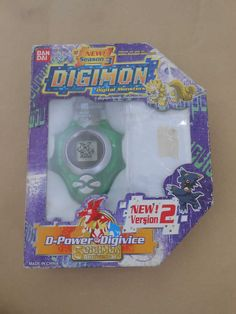 Bandai Digivice D-Power Version 2 Digimon Tamers US Terriermon Green Color Boxed #Bandai